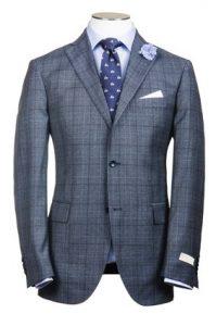 Серый 3 пуговичный мужской костюм
