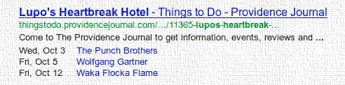 Google Маркер - Сведения о мероприятиях
