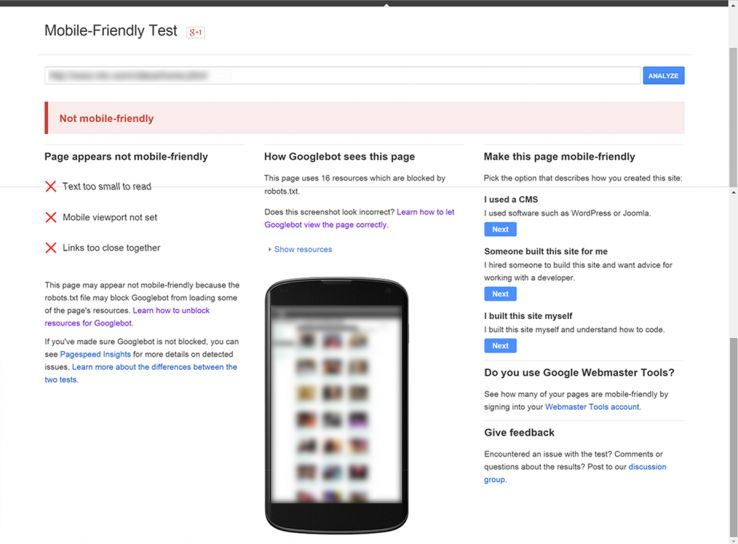 If my site is not mobile-friendly