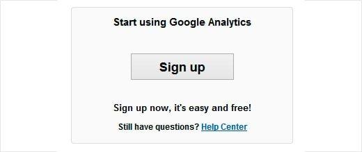 Шаг 2 для Google Anayltics регистрации