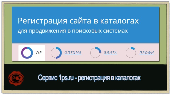 Самостоятельная регистрация в каталогах