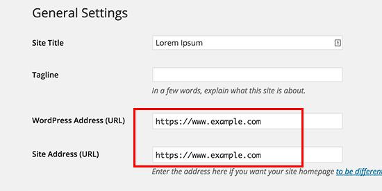 Обновление URL-адресов в WordPress