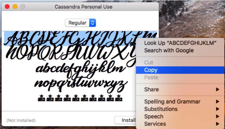 Instagram фишка для копирования шрифта Кассандра в ваш Instagram bio