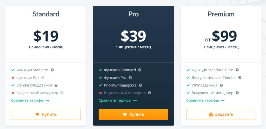 Стоимость Netpeak Spider цена