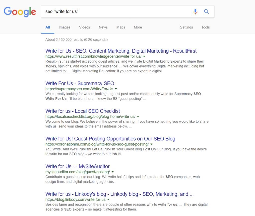 Техника построения ссылок гостевой блоггинг поисковый оператор