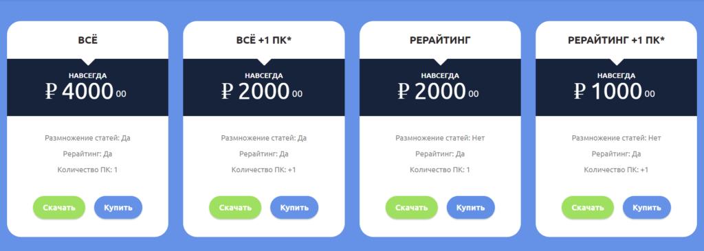 Стоимость лицензии TextExperts