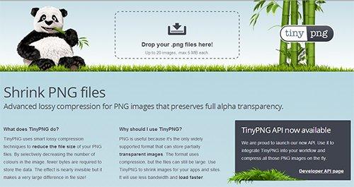 TinyPNG - редактирование PNG изображений
