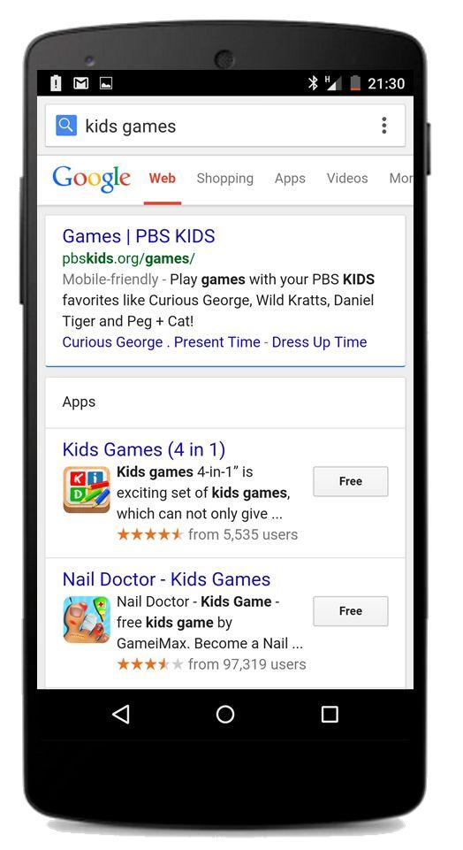 Google добавляет пункт меню «Приложения»