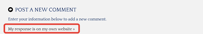 My response is on my own website